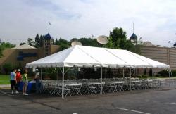 20'x40' White Frame Tent